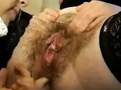 Hairy Lesbo grown fist inside-holes