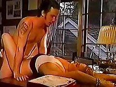 Rebecca Bardoux Tom Byron office sex blonde vintage classic