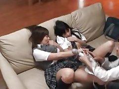 Three naughty schoolgirls from Asia part1