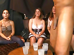Sexy young lasses sucking dick at yet one extra quantity Dancing bear party!
