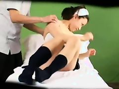 Reluctant Asian Schoolgirl gets banged during her massage