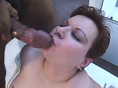 Nerdy Redhead Big Tit BBW Gets Anal