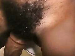 Pretty Hairy Black Teen Fucked in Toilet