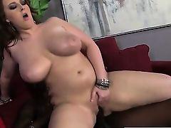 BBW rides giant black cock