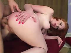 Hard Anal For Slutty Redhead