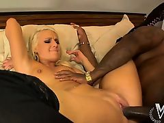 Young blonde gets big black dick in her sweet cunt