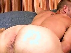 First time str8 porn star Brenn Wyson bottoms...version 2
