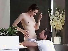 Teen cutie enjoys hot romantic sex