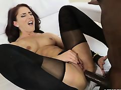 Mischas ass gapes as she gets anal
