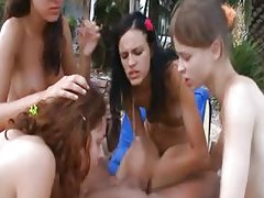Shocking orgy with four young girls and myself
