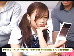 Miyu Hoshino Japanese schoolgirl enjoys getting snatch fingered