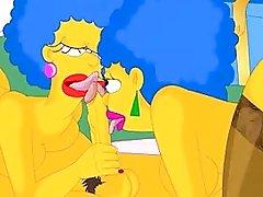 Homer screws Patty and Selma