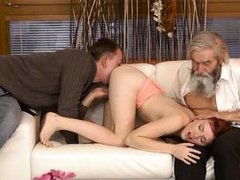 my perv boyfriend fucked me with his dad