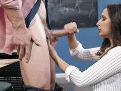 busty student needs her teacher's dick