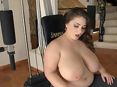 beautiful busty plumper with large natural breasted 1