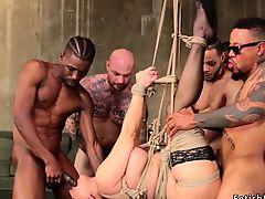 Huge tits Milf has orgy interracial anal