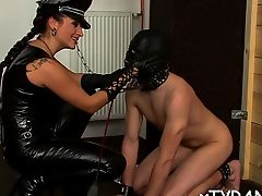 Guy gets tied up and ass fucked in sexy femdom fetish act