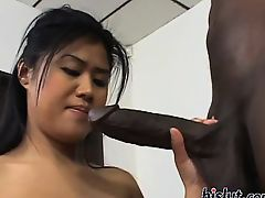 Lovely Asia pleasures a giant pecker